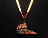CUSTOM ORDER - RESERVED for Mary - Final Installment  Salish KingFisher Necklace