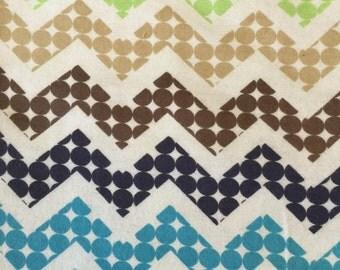Chevron Dot Flannel Print 1.5yds