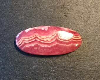 AAA Rhodochrosite cabochon - for jewelry designers or stone collectors - FabbyDabby Stones Item #17-010212