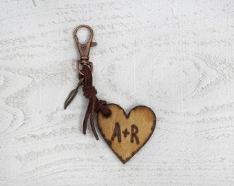 Custom wood Keychain, Valentine's Day Gift for men,Gifts for Him, wooden gift,men's keychain, gift for men, wood burned, anniversary gift