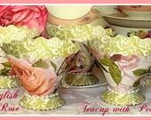 Paper Teacup Favors, Teaparty Favors, Wedding Shower Favors, Bridal Shower, Baby Shower Favors, Afternoon Tea Favors, Mother's Day Tea Favor