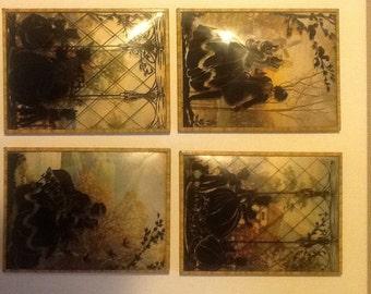 1930 era silhouettes. Set of four .