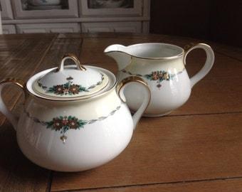 TK Thun Bohemia Czechoslovakia Large Creamer and Lidded Sugar Bowl
