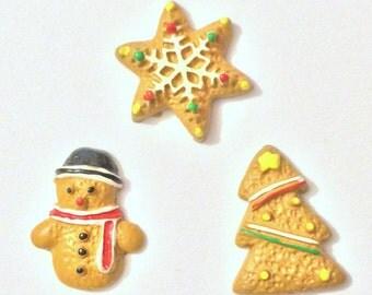 Christmas Needle Minder, Ginger Bread Needle Minder, Tree, Festive Needle Keep, Pin Holder,Magnet, Stitch Minder, Needle Holder, Needle Keep
