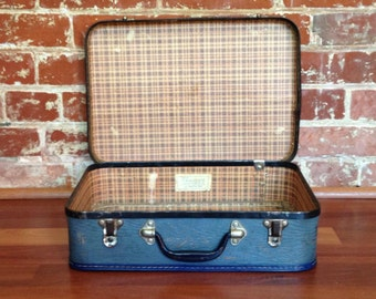 Vintage Suitcase - Small & Blue