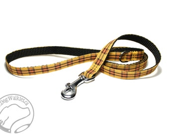 "Matching Plaid Dog Leash for 1/2"" (12mm) Wide - Tartan - Thin Tartan Lead - Light Leash - Small Dog Leash - 4, 5 or 6 ft (1.2, 1.5 or 1.8m)"