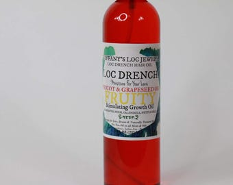 Loc Drench Apricot & Grapeseed Hair Oil Original Fruity Scent