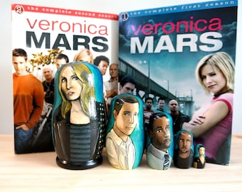 SALE: Veronica Mars Hand Painted Russian Matryoshka Art Nesting Dolls