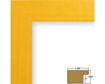 "Craig Frames, 16x20 Inch Yellow Picture Frame, Bauhaus 1.25"" Wide (260271620)"
