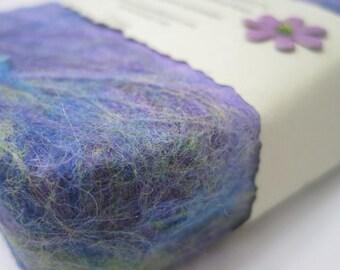 Palmarosa Lavender Handmade Felted Soap