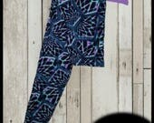 Amazing Print, Buttery Soft, Leggings (Abstract Web) Plus Size 14-20