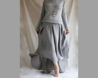 Maxi Skirt Women's Long Skirt Pleated Chiffon Maxi Bohemian Skirt Wrap Skirt Asymmetrical Skirt Sexy Maxy Skirt Bohemian Boho Floor Lenght