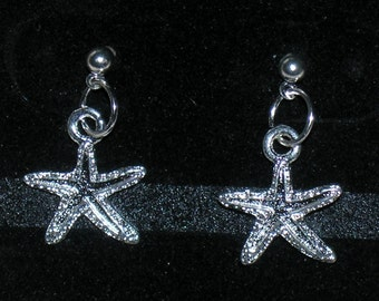 Starfish Earrings with Surgical Steel Posts