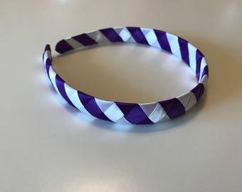 Purple and White Woven Headband, Girls/Toddlers