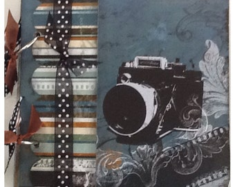 Photography Vacation My Favorite Photos Pre Made Chipboard Scrapbook Album * Just Add Photos *