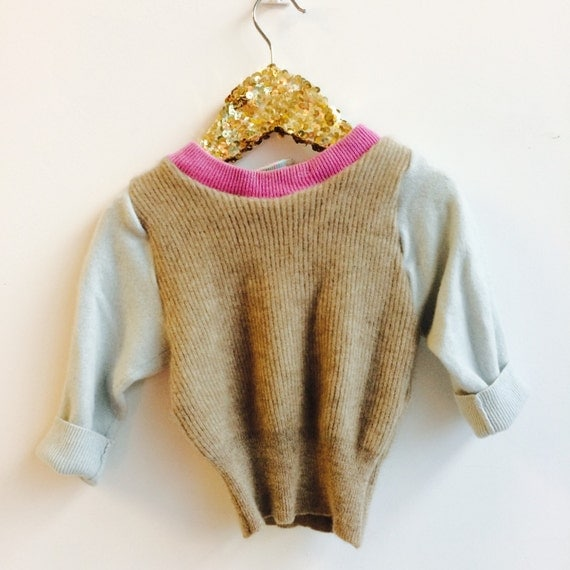 SOFTIE 3-6 Months Baby Cashmere Jumper Handmade Top Sweater Pullover Pulli Upcycled Thermal Cashmere Unisex