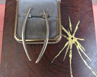 Silver Dangle Earrings Long 90's Dagger Earrings Modern Silver Earrings Vintage Jewelry
