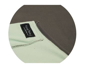 Karma Soft Cotton Kiwi/Charcoal Baby Sling