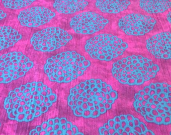 """Purple Print 100% Cotton Bubble Gauze 58"""" wide sold by the yard"""