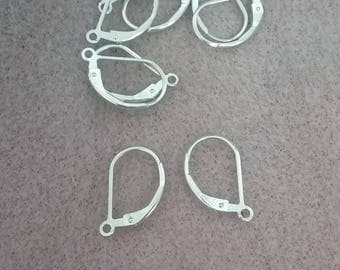 Sterling Silver Plain Leverback Earwires
