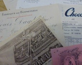 Antique French Invoices X 10,  Circa 1920's 1930's