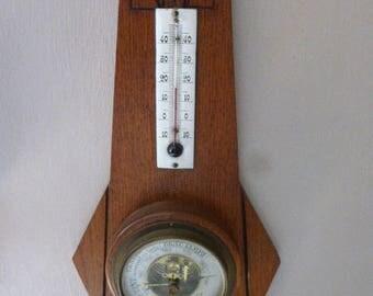 Antique French Barometer, thermometer, Circa 1920's Art Deco.