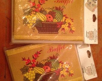 vintage NOS part invites invitations set of 10 buffet