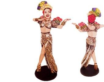 Carmen Miranda Hand Painted 2D ArtFigurine