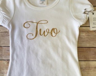 Ready to Ship; 2nd Birthday Shirt; 2 years old; Girls Birthday