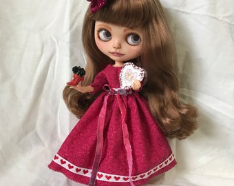 Blythe Doll Valentines Day Dress