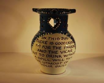 North Devon Pottery Puzzle Jug - Harry Juniper - Bideford Pottery - Devon Slipware