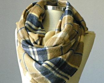 Blanket Scarf, Plaid Blanket Scarf, Tartan Scarf, Over Sized Blanket Scarves