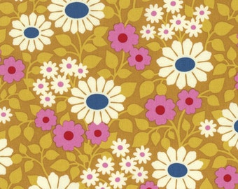 Hello Love by Heather Bailey for Free Spirit - Fields Forever - Gold - Fat Quarter - FQ - Cotton Quilt Fabric 217