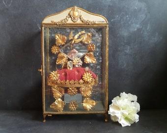 Magnificent Globe De Mariee. Wedding box, Jewelry box, Ormolu Circa 1880. Ring Stand.Jewelry display. Jewellery box . Boudoir Decor.