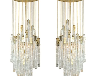 murano icy bar glass chandelier
