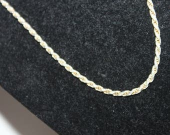 Sterling Italian Rope Chain 20""