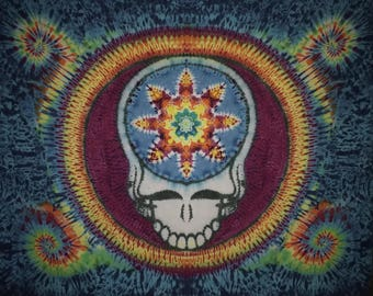 """Tie Dye Tapestry ~ Mandala Your Face Tapestry ~ 72"""" X 90"""""""