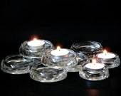 Nine Clear Glass Casters Floor Protectors Mixed Size Rug Savers Furniture Coasters Vintage Tealight Candle Holders Trinkets Coin Dishes