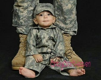 Baby Military uniform, nb-12m, military uniform, Baby Military set, Baby military jacket, BAby military costume, military baby