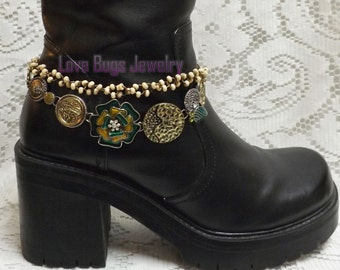 Shabby Chic Boot Jewelry , Boot Bracelet, Boot Bling, Boot Jewelry, Cowgirl Boot Bling, Boot Band Bracelet