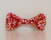 Christmas Red Gold Dots Dog Bow Tie Wedding Accessories Christmas Made to Order