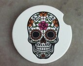 Sugar Skull Coaster Car Coaster Decorative Coaster Car Decor For Women