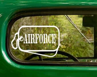 Air Force Decal, Air Force Dog Tags, US Military Decal, Military sticker, Car Decal, Laptop Sticker, Vinyl, Car Stickers