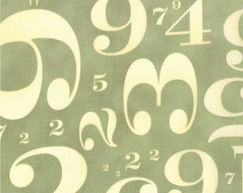Circa 1934 Numbers in Cream and Sage by Cosmo Cricket for Moda - One Yard - 37002 12