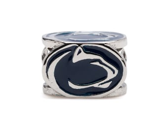 Pre-Order NOW! Penn State Nittany Lion Block Bead Charm - Four Sided - Stainless Steel - Fits Pandora