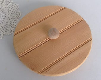 """Wooden Crock Lid Hand Made Fits a Crock with an 11"""" Opening Total Measurement is 11 5/8"""""""