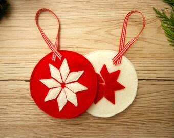 Scandinavian Christmas Decoration Felt Bauble Craft Kit For Adults DIY Kit DIY Gift