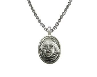 William Shakespeare Head Necklace
