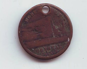 Crystal Palace Holed Token Queen Victoria 1881