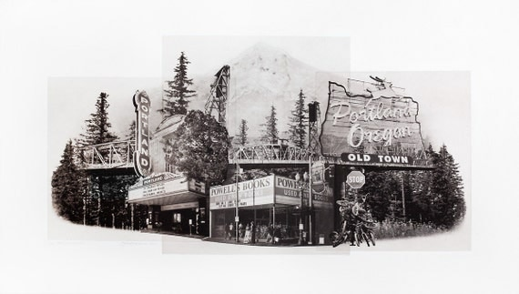 Portland Fine Art - Original Art - Photographic Etching - Print - Photography- Landmarks- Oregon- Photogravure- Photo Collage - Portlandmark